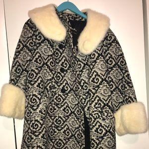 Evanswool Mink funprint coat